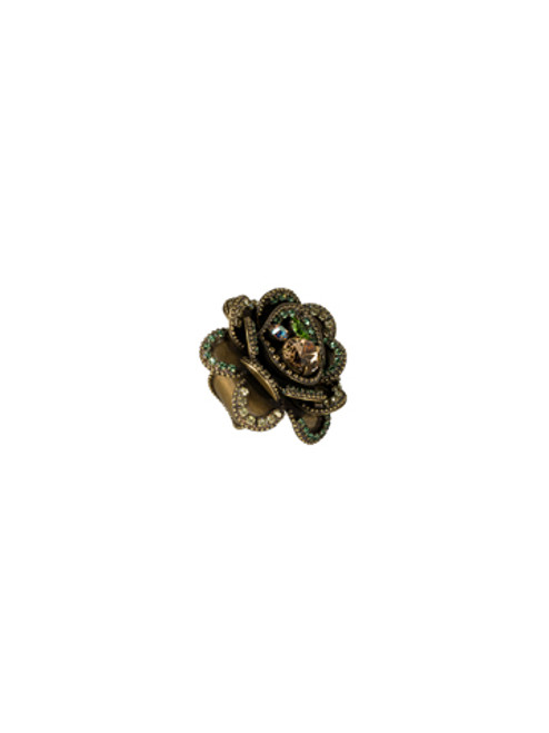Sorrelli- Water Lily- Full Bloom Crystal Ring- RCB9AGWL