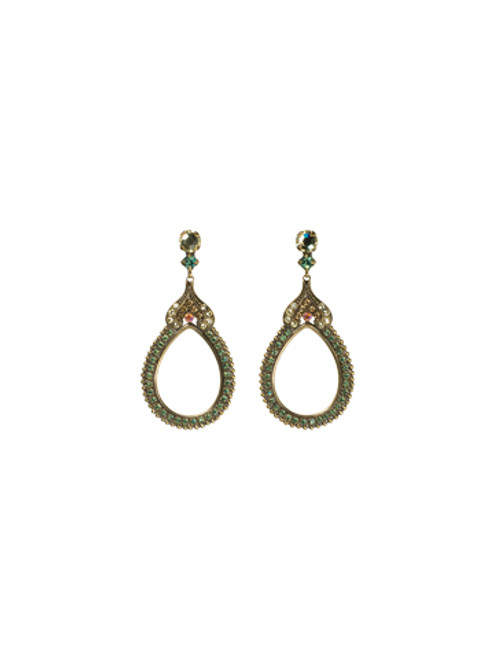 Sorrelli- Water Lily- Antique- Influenced Hollow Statement Earrings- ECF42AGWL