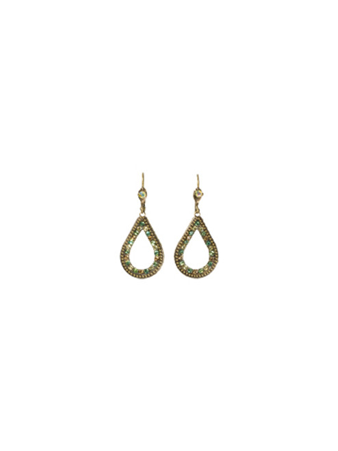 Sorrelli- Water Lily- Open Teardrop Earrings~ ECJ34AGWL