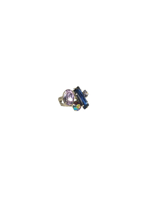 Sorrelli HYDRANGEA- Abstract Cluster Ring~ RCF54ASHY
