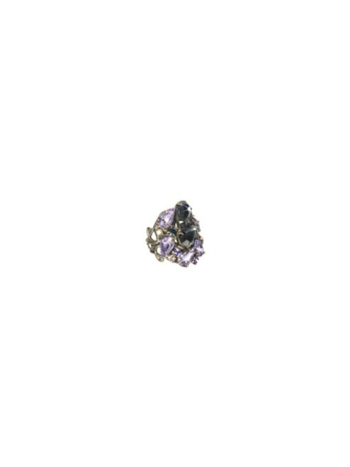 Sorrelli HYDRANGEA-Large Teardrop Crystal Cocktail Ring~ RCP3ASHY