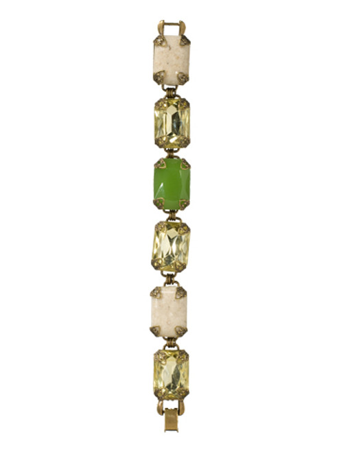 Sorrelli- Water Lily- Large Emerald Cut Crystal Bracelet- BCF2AGWL