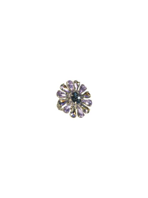 Sorrelli HYDRANGEA- Botanical Bliss Crystal Ring~ RCP29ASHY