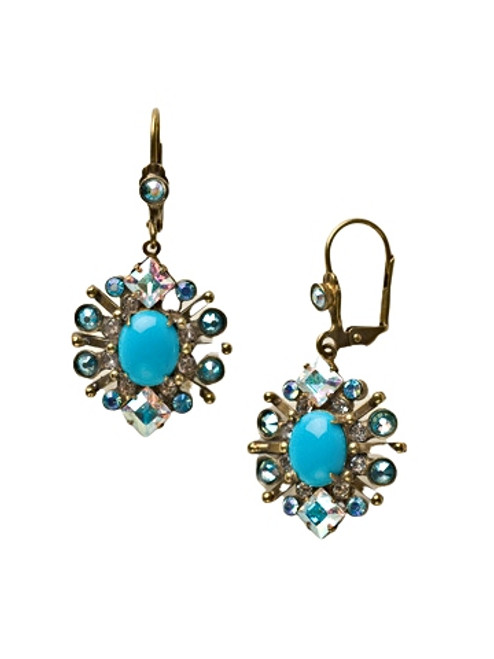 **MADE TO ORDER**AZURE ALLURE ELABORATE ECLITPIC CRYSTAL EARRINGS BY SORRELLI -ECQ28AGAZ
