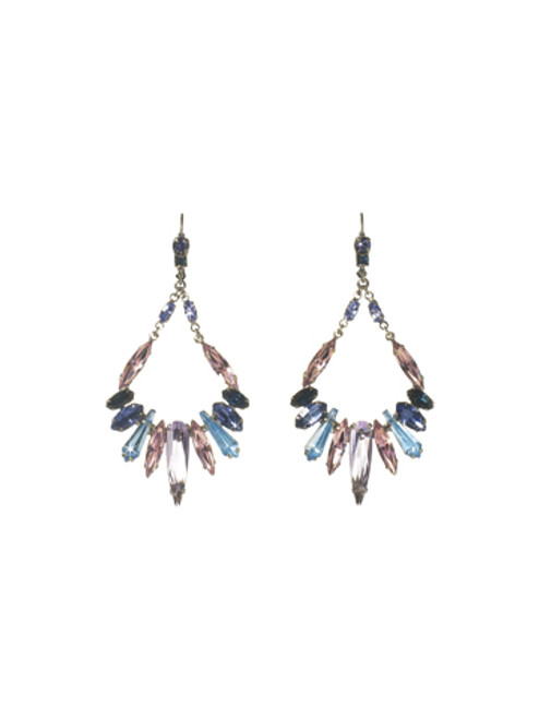 Sorrelli HYDRANGEA-Frosted Icicles Earrings~ ECN26ASHY