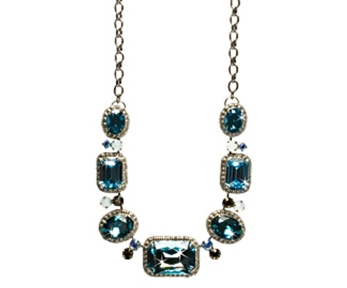 EMERALD COAST BOLD BORDER CRYSTAL NECKLACE BY SORRELLI -NCK49ASECO
