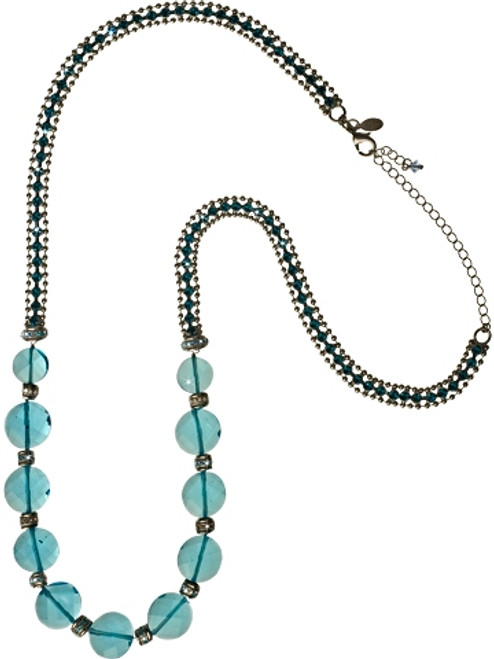 EMERALD COAST LUXURIOS LONG STRAND CRYSTAL NECKLACE BY SORRELLI -NCP39ASECO