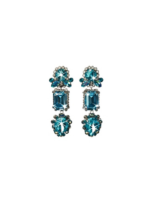 EMERALD COAST CRYSTAL CLIP EARRINGS BY SORRELLI-ECQ26CASECO