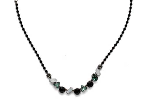 SORRELLI GAME DAY GREEN CHERISHED CRYSTAL TENNIS NECKLACE-NEK19ASGDG