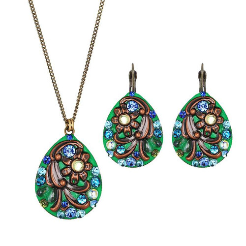 Michal Golan Seafoam Cove Necklace and Earrings Set-SET565