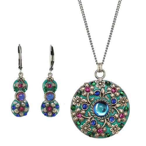 Michal Golan Mermaid's Garden Necklace and Earrings Set-SET494
