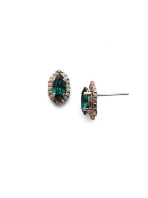 Sorrelli Snowy Moss Miranda Petite Post Crystal Stud Earrings~EEF87ASSNM
