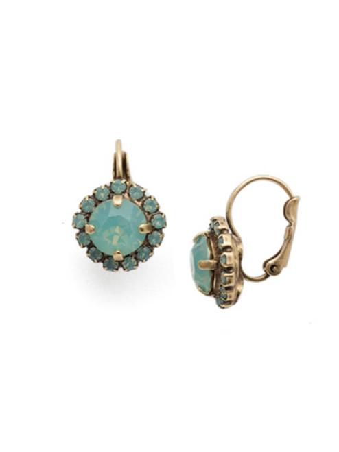 Sorrelli Pacific Opal- Haute Halo Dangle Earrings~ EDL10AGPAC