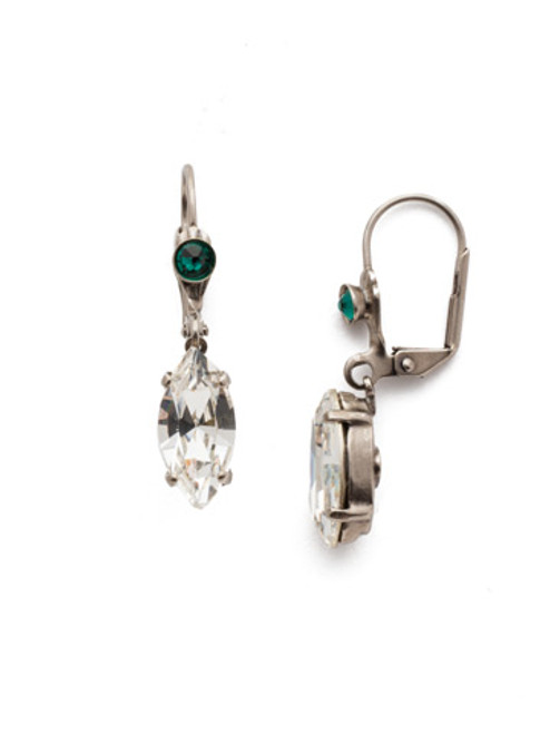 Sorrelli Snowy Moss Melanie  Crystal  Earrings~EEF86ASSNM