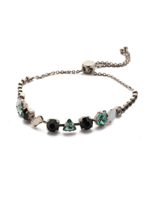 SORRELLI   GAME DAY GREEN CHERISHED CRYSTAL SLIDER BRACELET-  BEK19ASGDG