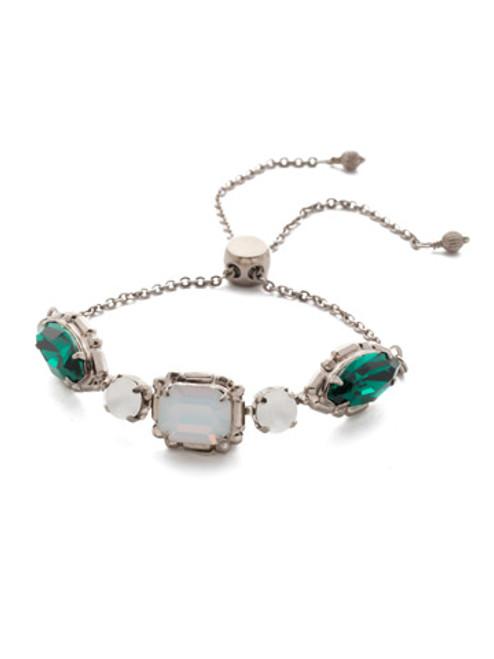 Sorrelli Snowy Moss Tosca Crystal Slider Bracelet~BEA31ASSNM