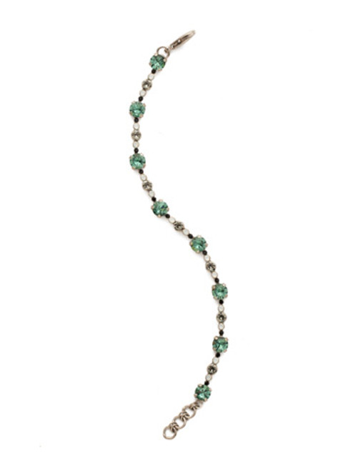 SORRELLI GAME DAY GREEN CONNECT THE DOTS CRYSTAL BRACELET- BDN15ASGDG