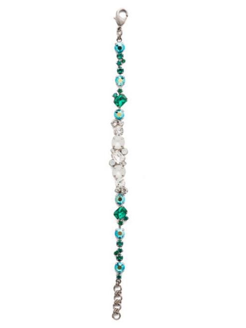 Sorrelli Snowy Moss Geo Classic Crystal Tennis Bracelet~BDG46ASSNM