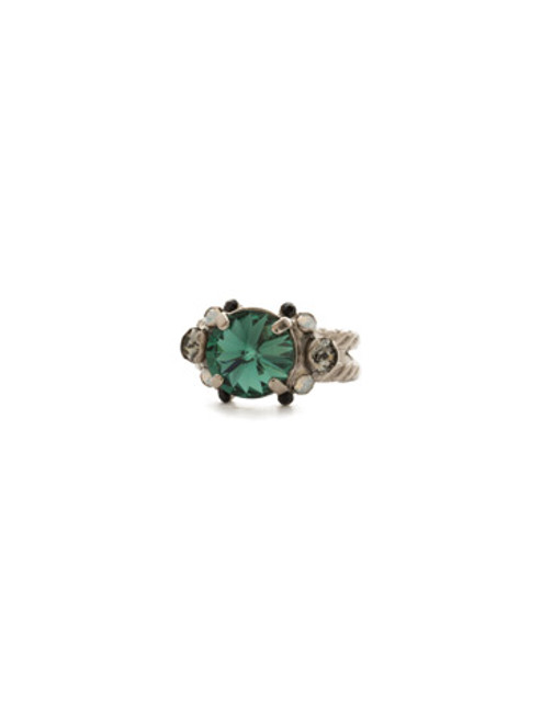 SORRELLI GAME DAY GREEN CLOWNING AROUND CRYSTAL RING- RDN78ASGDG