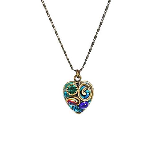 Michal Golan Emerald Heart Pendant~SC8065