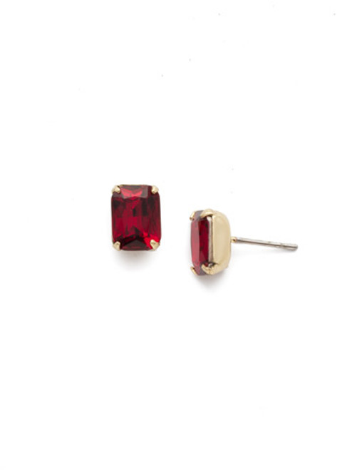 Siam- Mini Emerald Cut Stud Earrings by Sorrelli~ EBY42BGSI