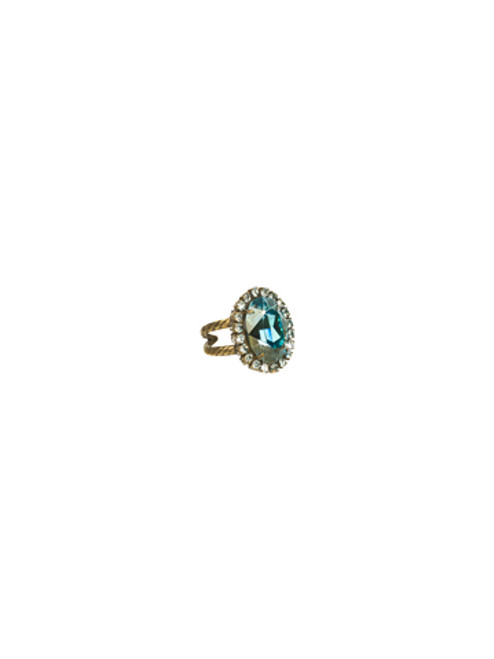 Sorrelli Afterglow- Glamorous Oval Cut Cocktail Ring ~ RBT68AGAFG