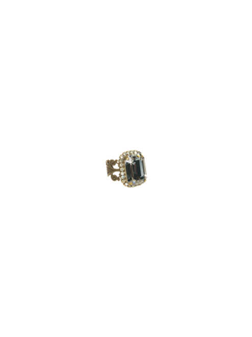 Sorrelli Afterglow- Petite Emerald Cut Cocktail Ring ~ RCF9AGAFG