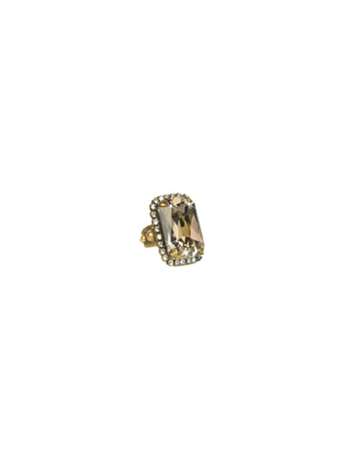 Sorrelli Afterglow- Luxurious Emerald Cut Cocktail Ring ~ RBT69AGAFG