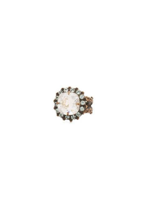 Sorrelli Afterglow- Crystal Cushion Ring ~ RCG2AGAFG