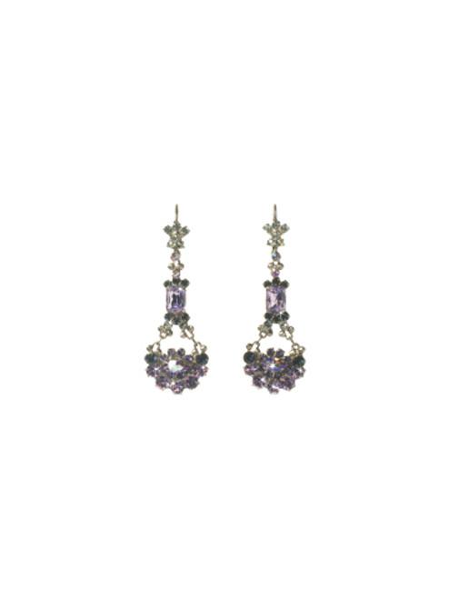 Sorrelli HYDRANGEA-Crystal French Wire Earrings~ EBT10ASHY