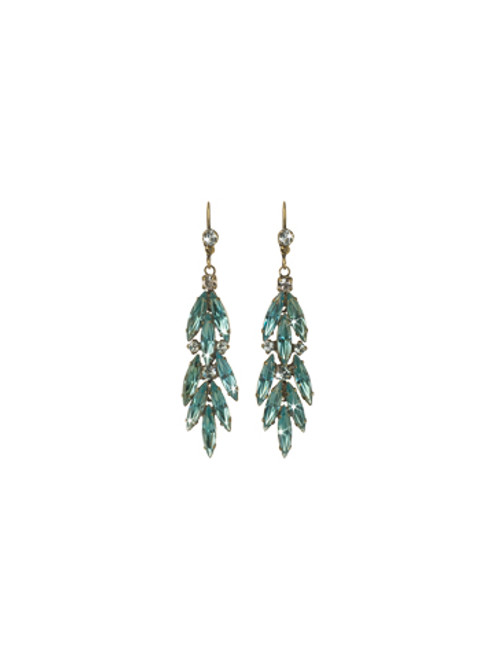 Sorrelli Afterglow- Crystal Feather Earrings~ ECR35AGAFG