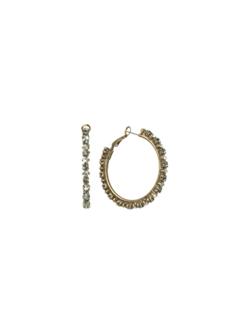 Sorrelli Afterglow- Large Round Cut Crystal Hoop Earrings~ ECR39AGAFG