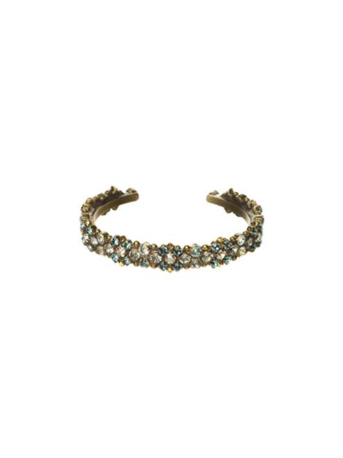 Sorrelli Afterglow-Thin Cluster Cuff Bracelet~BCR21AGAFG