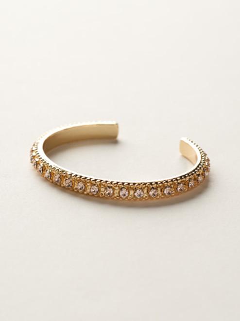Sorrelli Caribbean Coral- Crystal Chain Cuff Bracelet~ BCY8BGCCO