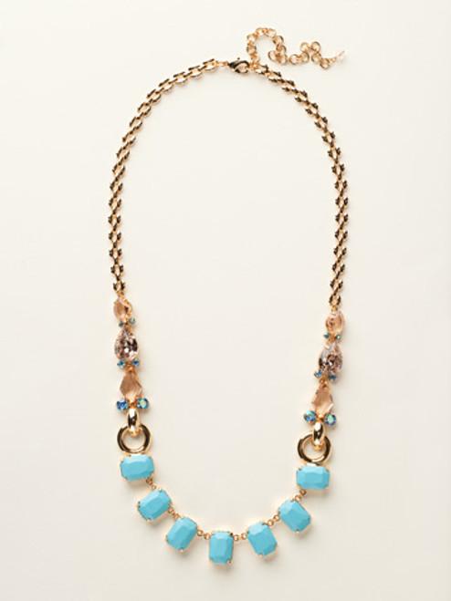 Sorrelli Caribbean Coral- Multi-Cut Crystal Long Strand Necklace~ NCY11BGCCO