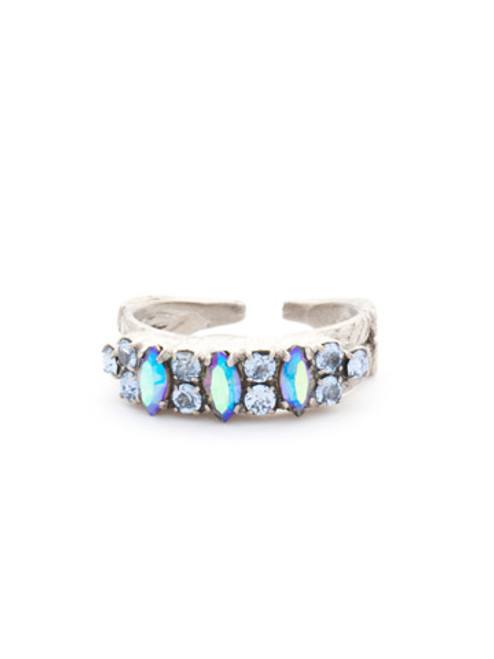 Sorrelli Ice Blue- Petite Stackable Navette Crystal Ring~ RCT30ASIB