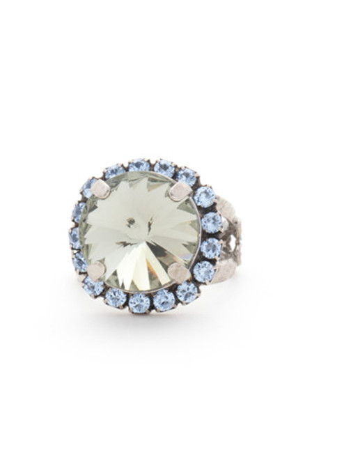 Sorrelli Ice Blue- Round Cut Cocktail Ring~ RCR60ASIB