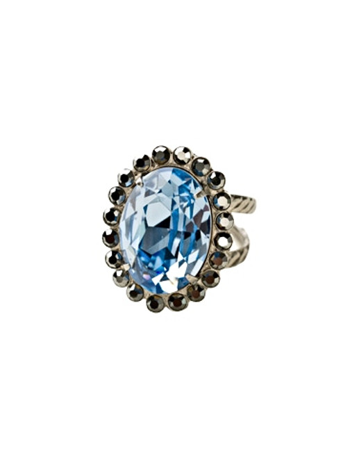 Sorrelli Ice Blue- Glamorous Oval Cut Cocktail Ring~ RBT68ASIB