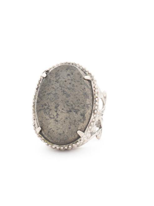 Sorrelli Ice Blue- Semi-Precious Solitaire Ring~ RCW50ASIB