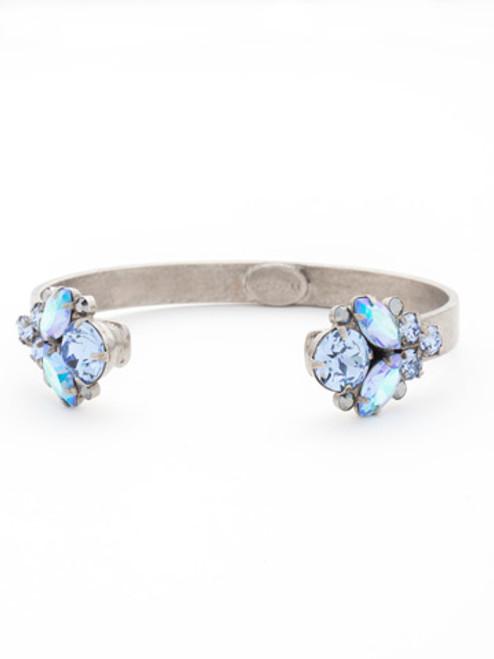 Sorrelli Ice Blue- Crystal Cluster Cuff Bracelet~ BCW17ASIB