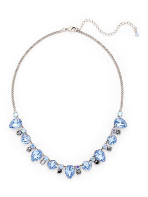 Sorrelli Ice Blue- Multi Cut Crystal Line Necklace~ NCW27ASIB