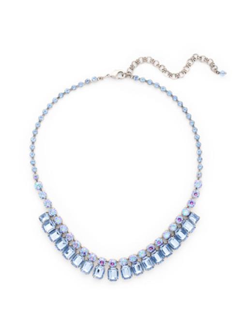 Sorrelli Ice Blue- Crystal Octagon Classic Necklace~ NCW7ASIB