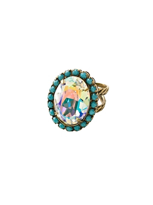 Sorrelli Azure Allure- Glamorous Oval-Cut Cocktail Ring~ RBT68AGAZ