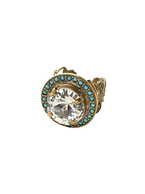 Sorrelli Azure Allure-Bold Bauble Ring~ RCM5AGAZ