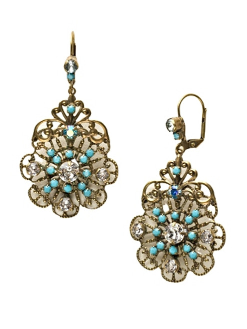 Sorrelli Azure Allure- Royalty Statement Earrings~ ECP23AGAZ