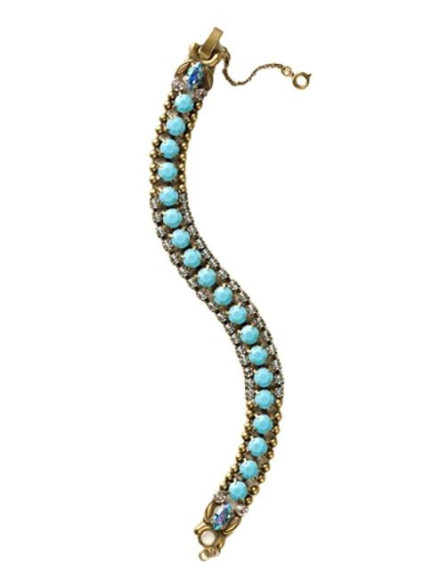 Sorrelli Azure Allure- Right on Track Tennis Bracelet~ BCN5AGAZ