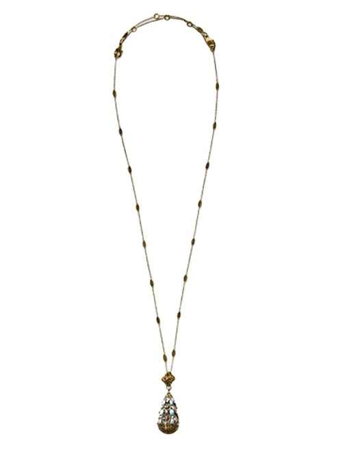 Sorrelli Azure Allure- Long Strand Decorative Teardrop Pendant Necklace~ NCR78AGAZ