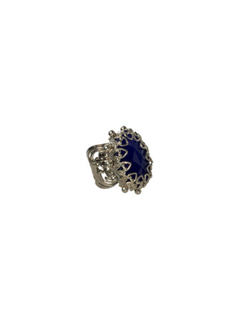 Sorrelli Electric Blue-Royalty Oval Ring ~ RCF55ASEB