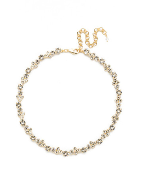 CRYSTAL LACE WISTERIA CRYSTAL TENNIS NECKLACE BY SORRELLI~NDQ36BGCRY