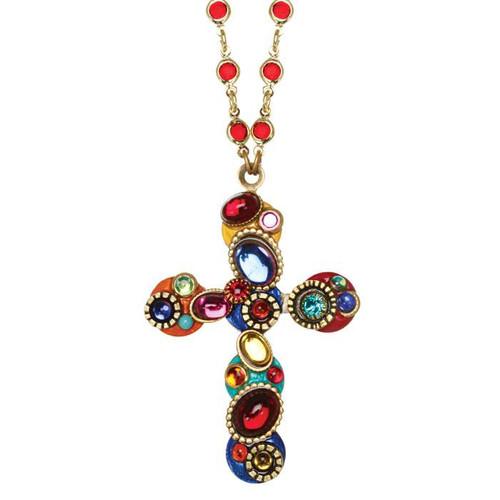 Michal Golan Confetti Cross Necklace~N3150